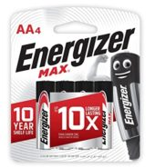 Energizer Batteries MAX AA 4's