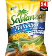 Soldanza Chips Plantain Lightly Salt 4pk
